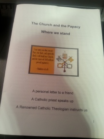 papacy booklet