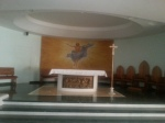 Altar-view in hotel chapel