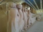 Statues in corridor