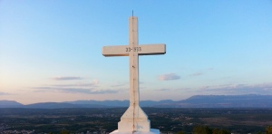 Back of cross with background