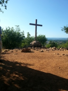 The Cross placed at an apparition site