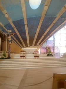 Modern church altar at San GV