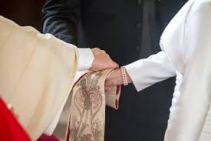 Priest blessing marriage union