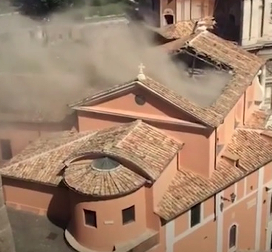 Are we Witnessing the Anger of God's Son on the Roofs of His Churches?