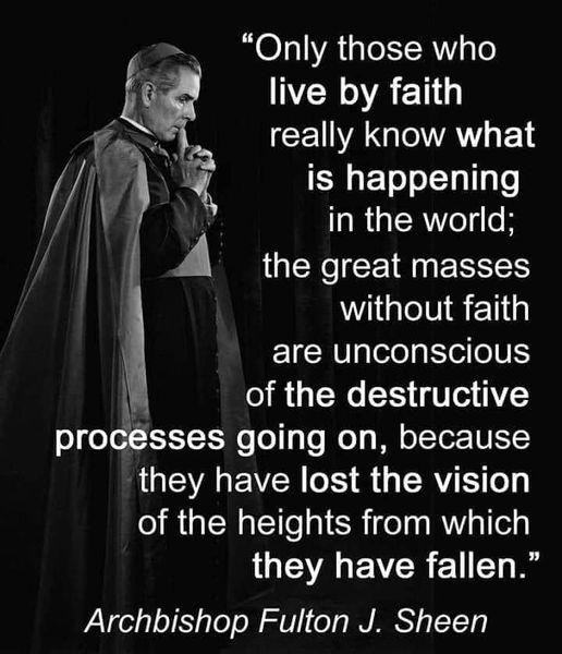 Abp. Fulton Sheen on Faith in world
