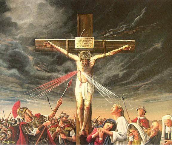 Spear in Jesus side